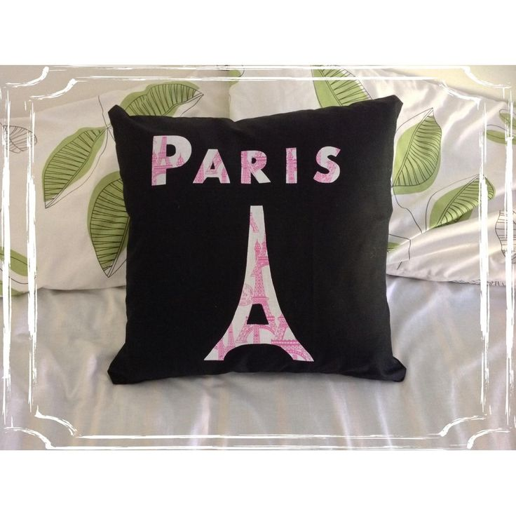 $17 Paris Eiffel Tower Cushion Cover by IsabelleMaryCreations on Handmade Australia