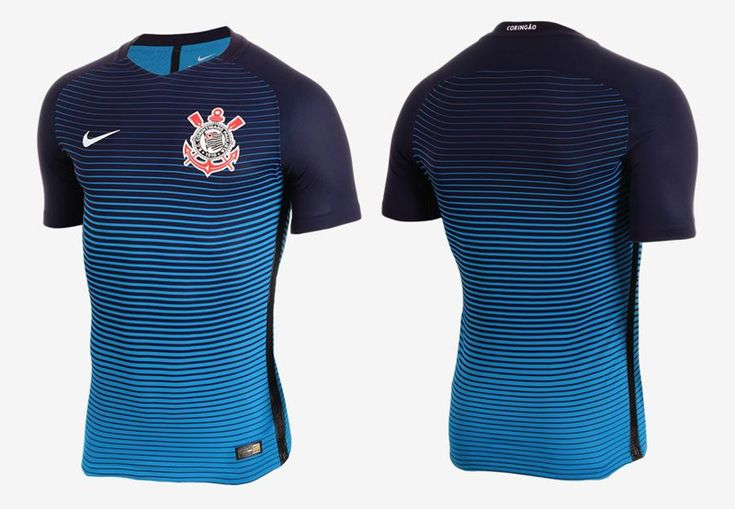 Terceira camisa do Corinthians 2016-2017 Nike Azul kit