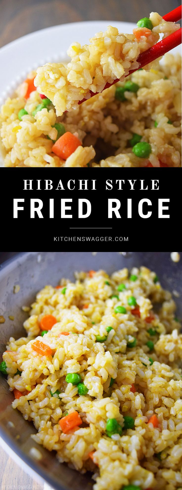 Hibachi Style Fried Rice-  Throw everything in a wok and cook on high heat for 5-7 minutes. It's that easy.
