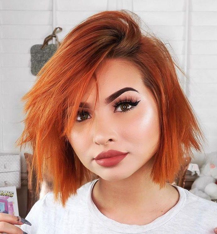 short hair - Coloration Roux Cuivr