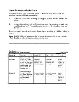 Write My Business Plan Australia This Download Is For Student Governmentcouncil Advisors Needing To Better  Asses The Critical Thinking And Writing Of Their Candidates Buy Mba Research also Thesis Statement Essays This Download Is For Student Governmentcouncil Advisors Needing To  Argumentative Essay Examples High School