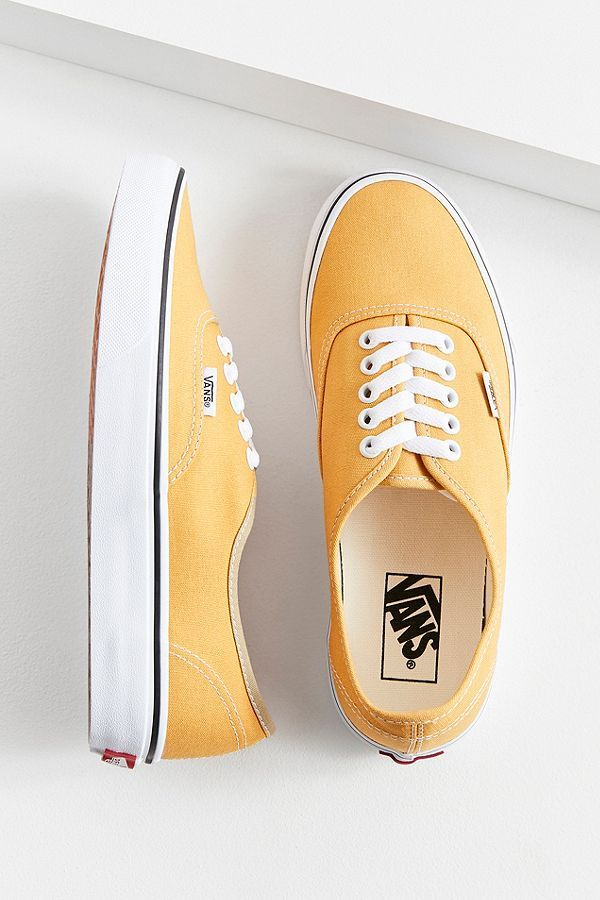 d77e73329d Vans Authentic Sneaker in Ochre yellow