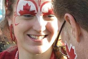 Canada day face paint