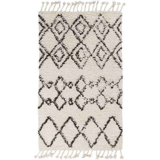 Found it at AllModern - Sherpa Ivory Area Rug