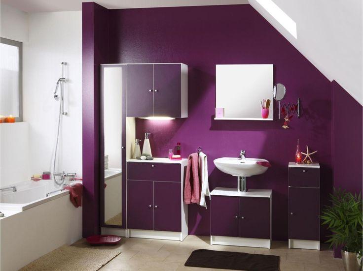 dco salle de bain prune plus - Salle De Bain Beige Et Prune
