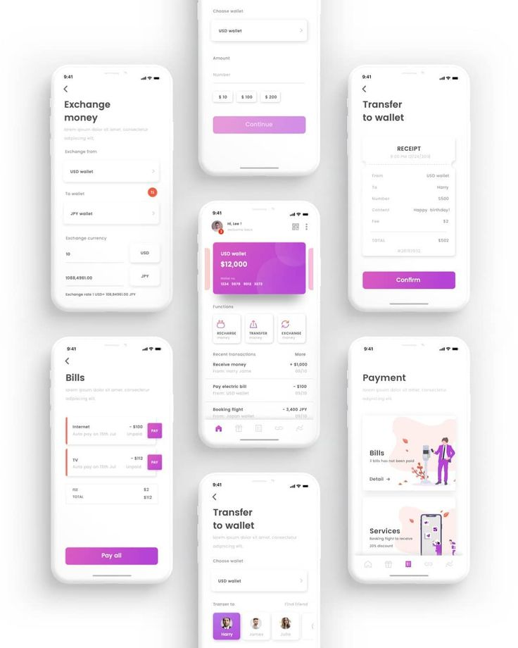 """UI8 on Instagram: """"Cen Wallet UI Kit Cen Crypto Wallet App UI Kit. Click link in bio and search """"Cen"""" to check out this product."""""""
