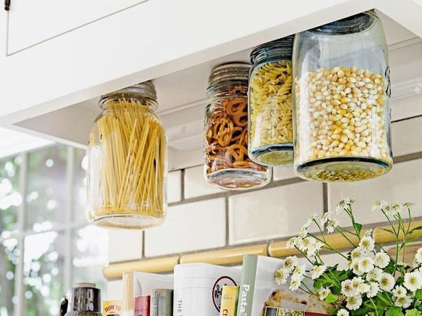 Kitchen Storage | 10 Truly Excellent Ways To Use Mason Jars  A few new ways to put those quintessential hipster drinking vessels to good use. posted on March 24, 2014