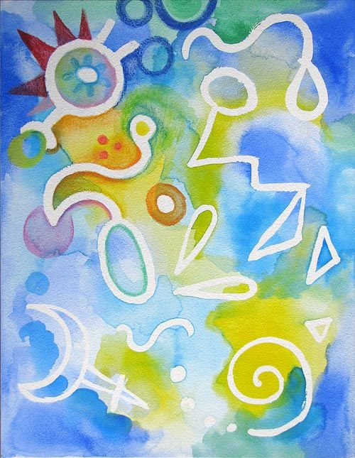 17 best images about art kandinsky on pinterest for Abstract watercolor painting tutorial