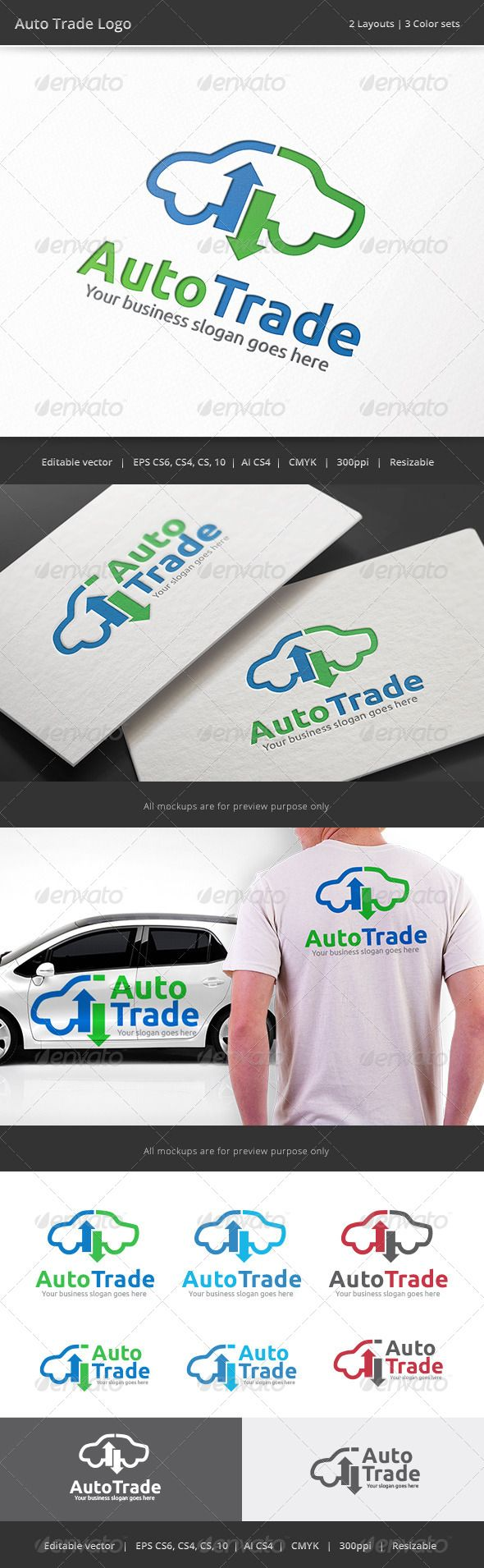 Auto Car Trade Logo — Vector EPS #company #exchange • Available here → https://graphicriver.net/item/auto-car-trade-logo/8329810?ref=pxcr