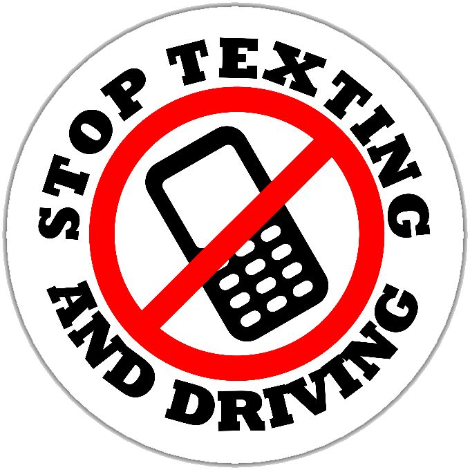 Stop Texting and Driving graphic