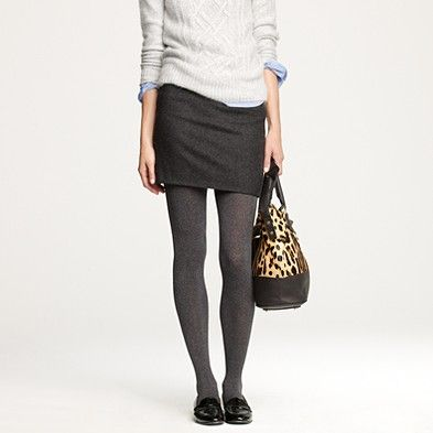Grey on grey on grey.: Carbon Tights, Skirt Thanks Jcrew, Charcoal Tights, Winter Work, Work Outfit, Fall Winter, Leopard, Black Skirt Thanks, Gray Tights