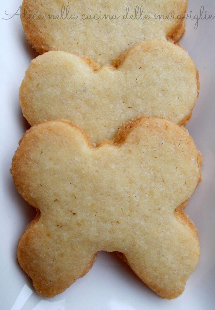 Farfalle ali di burro (ovvero: biscotti di frolla con farina di riso), ricetta dolce (senza glutine)
