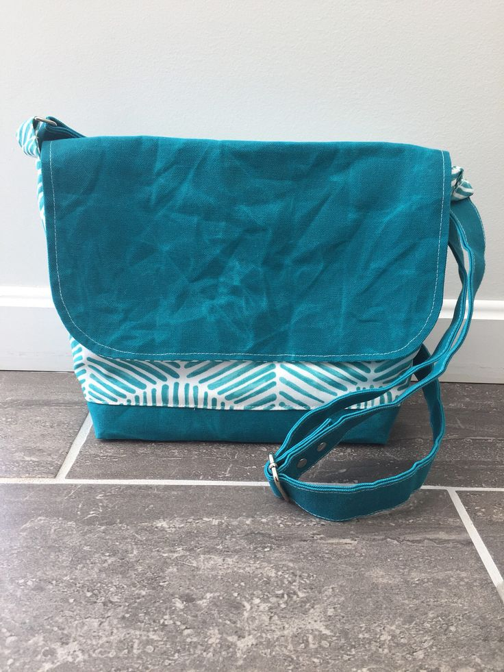 Waxed canvas messenger bag, crossbody bag, JW service bag, jw ministry bag, teal messenger by BirdOnAWireBags on Etsy https://www.etsy.com/listing/522134733/waxed-canvas-messenger-bag-crossbody-bag