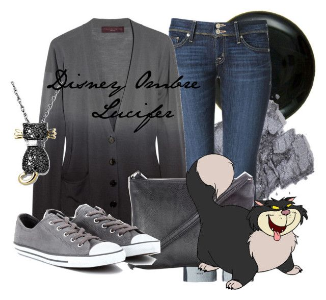 Disney Ombre Lucifer by amarie104 on Polyvore featuring STELLA McCARTNEY, Hudson Jeans, Converse, Wallis and Anna Sui