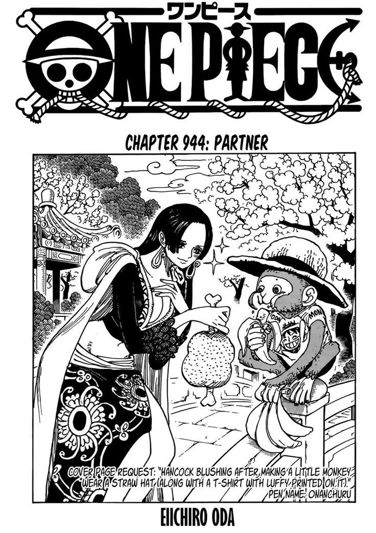 ONE PIECE CHAPTER 944 - Partner | One piece chapter, One ...