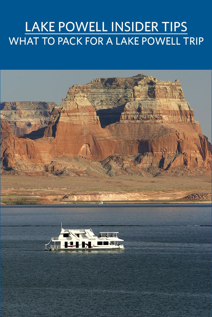 See our list of the things that you must pack when you're planning a Lake Powell houseboat vacation.