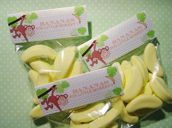 Lolly bags with ALLEN'S Bananas