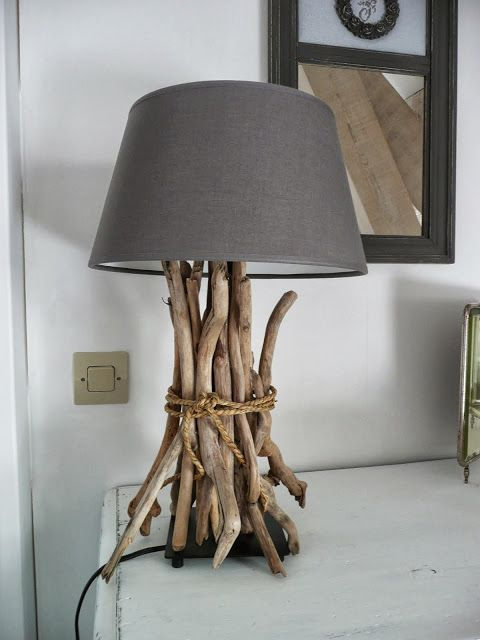 Add sticks to any lamp to give it a modern country or nautical feel.