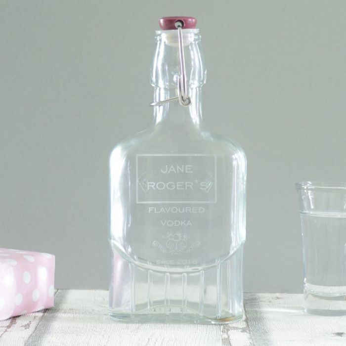 Make their party drinks and nightcaps extra special with our personalised flavoured vodka kilner bottle