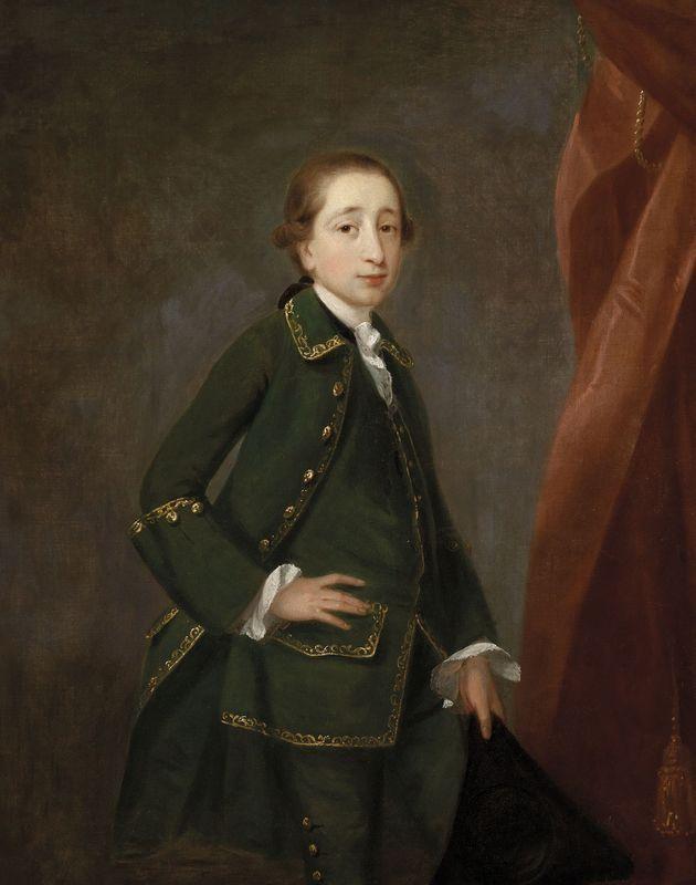 John Astley Wem, 1727 - Dukinfield Lodge, 1787  Portrait du jeune Peter John Fremeaux  Toile  127 x 101 cm (49,53 x 39,39 in.)