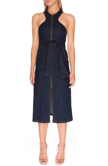Finders Keepers the Label 'Aerial Love' Denim Midi Dress available at #Nordstrom