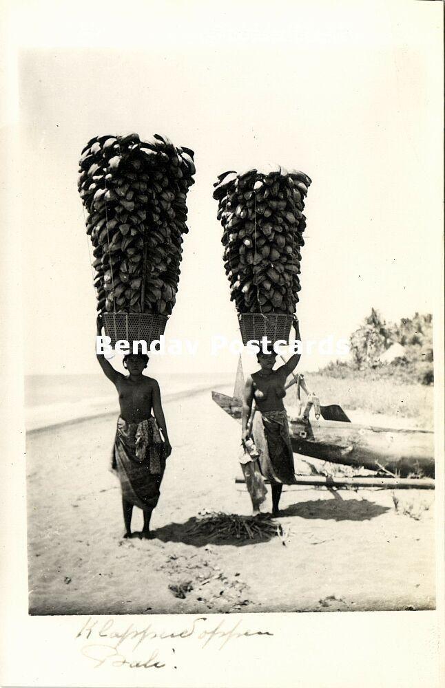 indonesia, BALI, Native Nude Balinese Women Offering Ceremony (1920s) RPPC | eBay