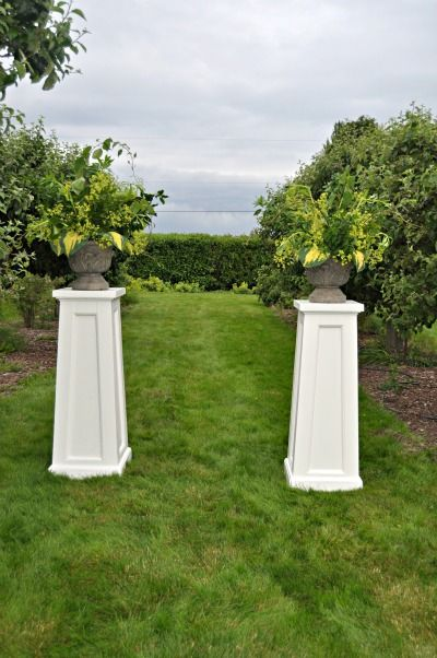 Craftsman Style Wedding Pillars From Country Bouquets Floral