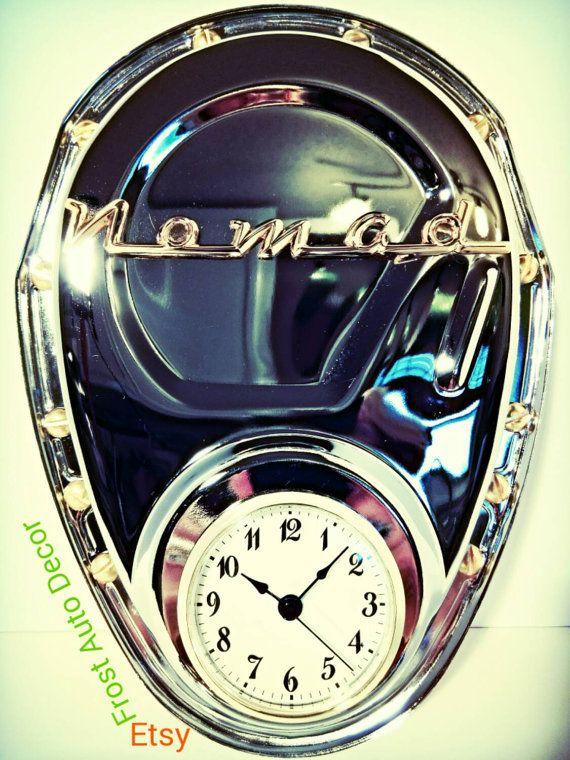 Chevy Nomad Trifive 1955 56 57 Wall Clocks Car Part Furniture Etsy Car Part Furniture Automotive Decor Clock