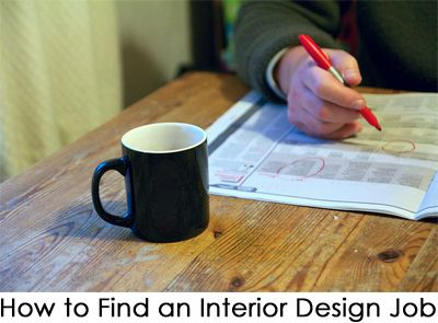 How To Find An Interior Design Job
