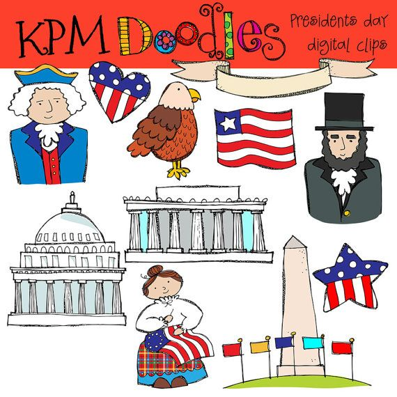 KPM Presidents Day Digital Clip Art COMBO