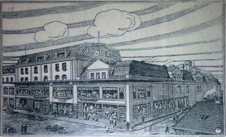 Stylizované ztvárnění obchodního domu ASO z roku 1929