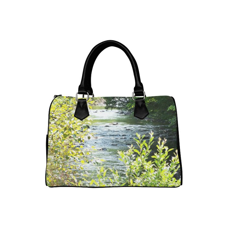River Runs Through It Boston Handbag (Model 1621)