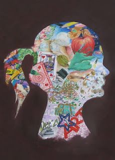 love this portrait idea from Amelia Kennison's website - would be great for beginning of school activity for any grade
