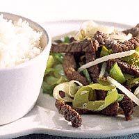 Recept - Rijst met biefstukreepjes - Allerhande