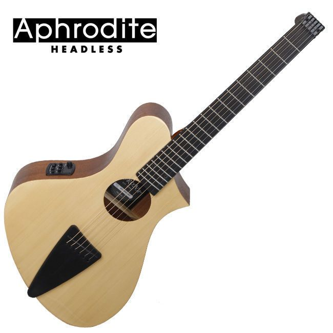 Corona Aphrodite Headless Acoustic Guitar APS-100HSEQ NAT Unique Design Travel #Corona