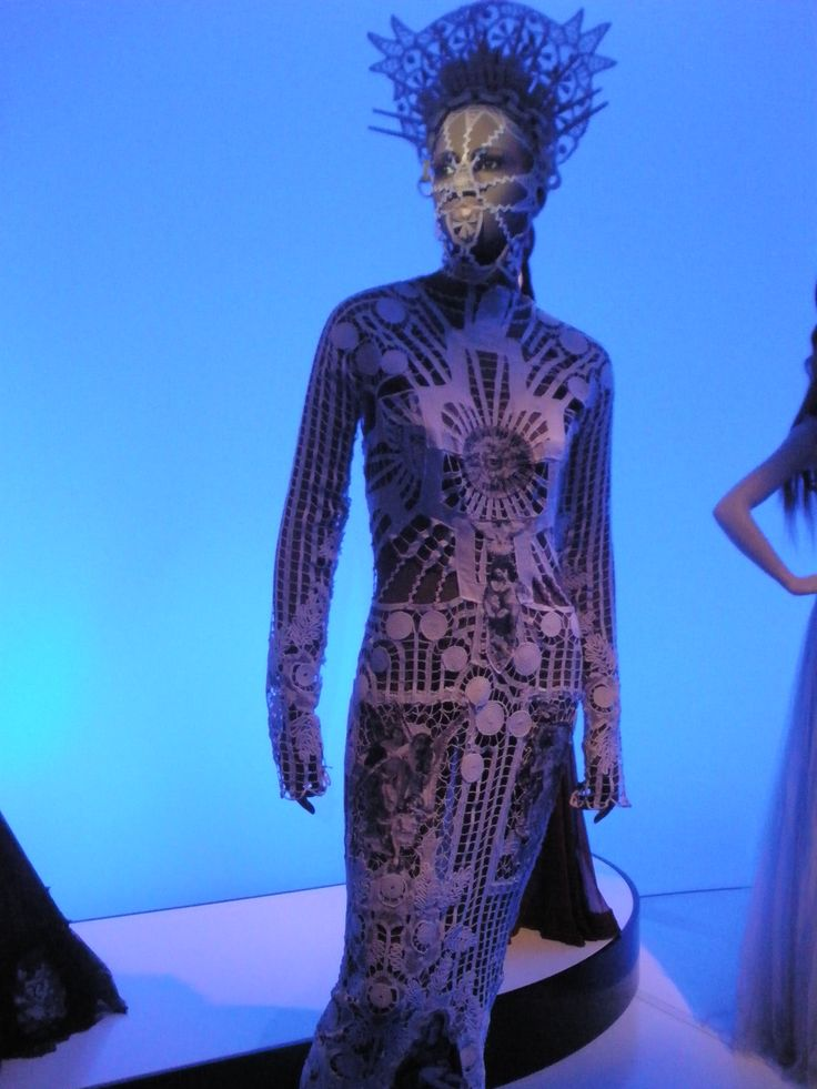 Jean-Paul Gaultier, Barbican, fashion, lace, futuristic
