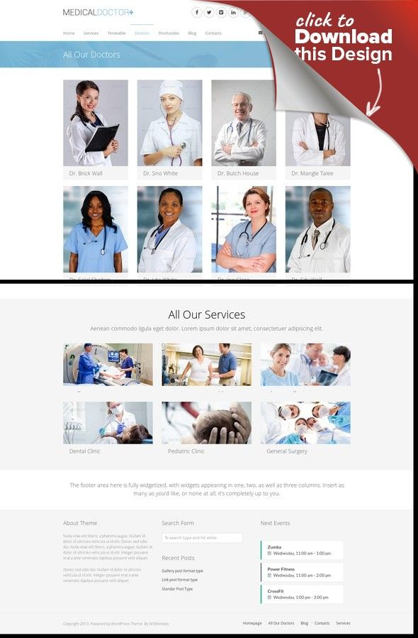 MedicalDoctor - WordPress Theme For Medical clinic, clinic theme