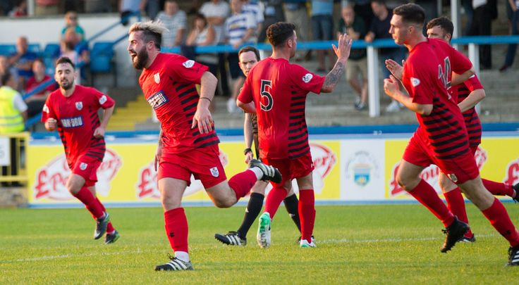 Queen's Park's Bryan Wharton celebrates his goal during the Betfred Cup game between Morton and Queen's Park.