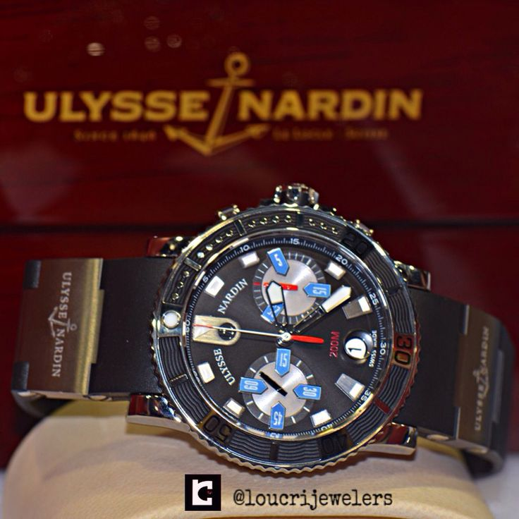 ULYSSE NARDIN MAXI MARINE DIVER CHRONOGRAPH WATCH ‼️  Contact Loucri Jewelers for this and other Luxury Time pieces. Email  sales@loucri.com or call ☎️☎️ 516 960 7757 ‼️