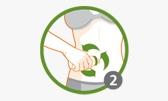Paso 2 -   Stick anticelulítico Thiomucase Extreme Areas    - Realiza movimientos lentos y circulares, a modo de masaje, sin presionar demasiado la piel.