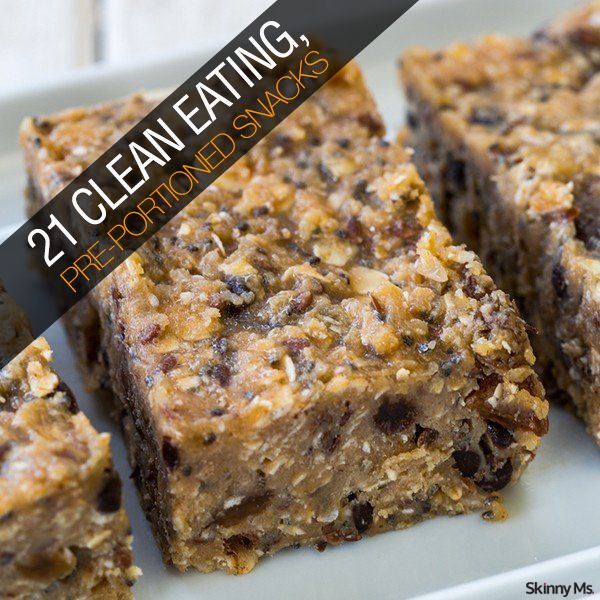 21 Clean Eating, Pre-Portioned Snacks