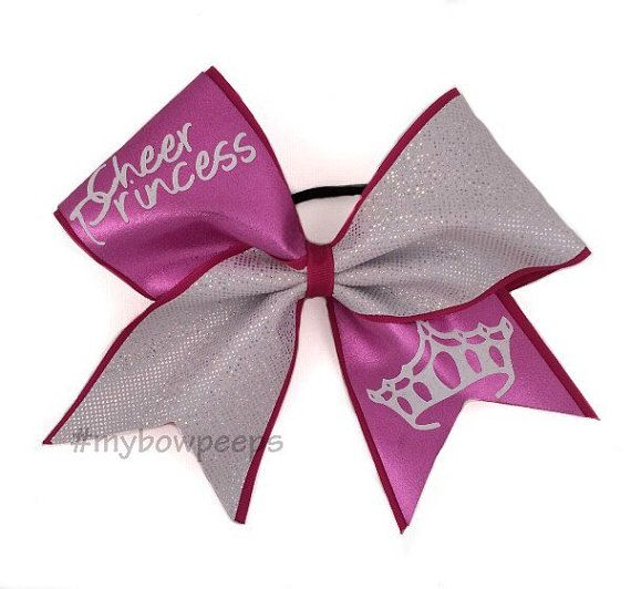 Cheer Princess Cheer Bow by MyBowPeeps on Etsy