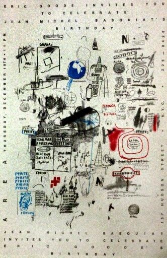 Jean Michel Basquiat, Untitled, c. 1985 on Paddle8