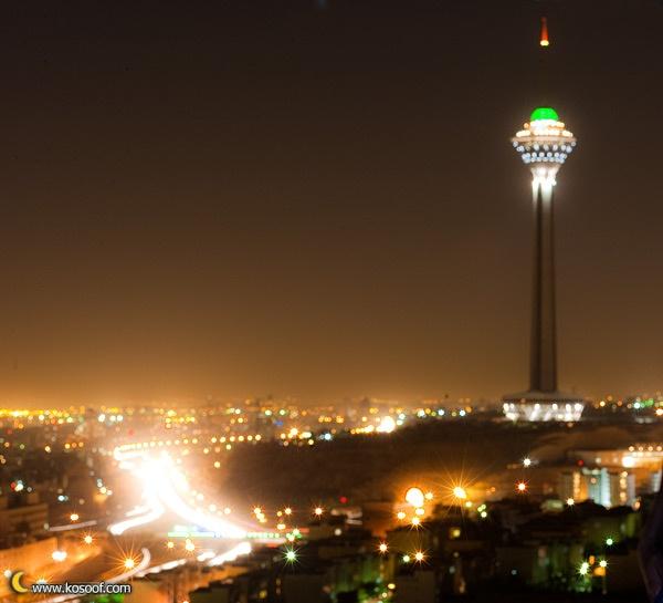 Tehran in nightFavorite Places, Beautful Iran
