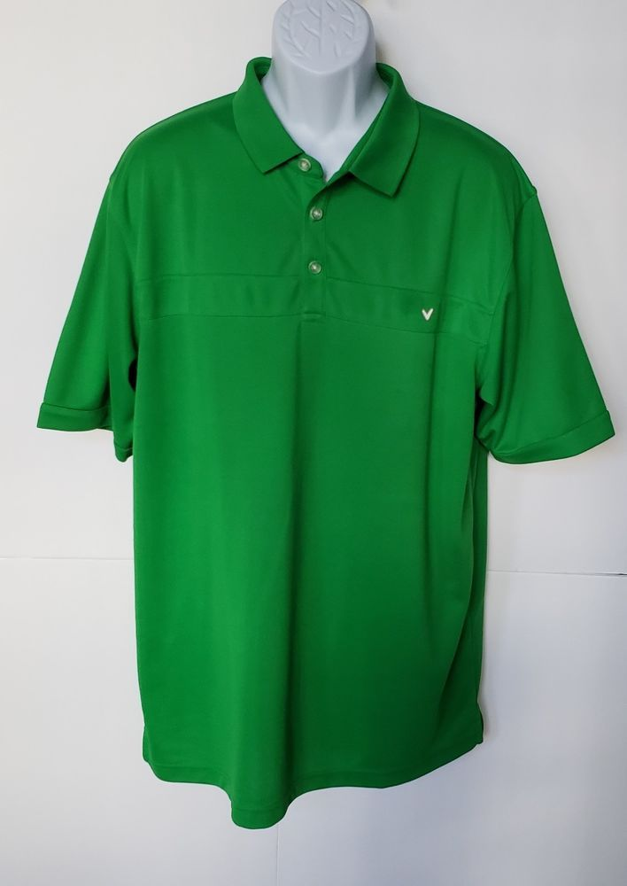 eef73a4e Callaway Polo Shirt Green XXL EEG TTG Short Sleeves With Logo #fashion # clothing #shoes #accessories #mensclothing #shirts (ebay link)