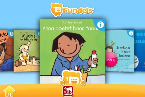 Fundels is een platform dat je in staat stelt om prentenboeken op een geheel vernieuwende manier te ervaren samen met je kinderen.    Met Fundels kan je verschillende interactieve peuter- en kleuterboeken downloaden van uitgeverijen zoals Clavis, Lannoo, Abimo, De Eenhoorn, Cego Publishers, Averbode, Linne Bie, Gottmer, Kluitman, de Fontein,...    Bekijk, lees en beluister de verhalen van Karel, Rikki, Anna, Hekselien, Klein konijn, Zoeperman, Zaza,… waar en wanneer je maar wilt. Bovendien…