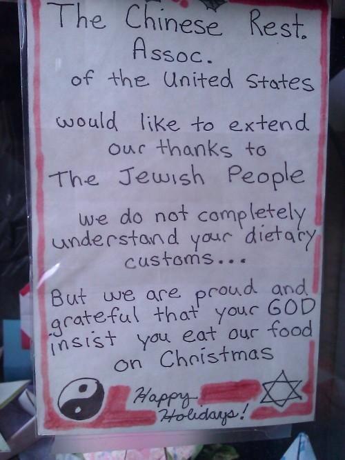 Jewish dietary customs...