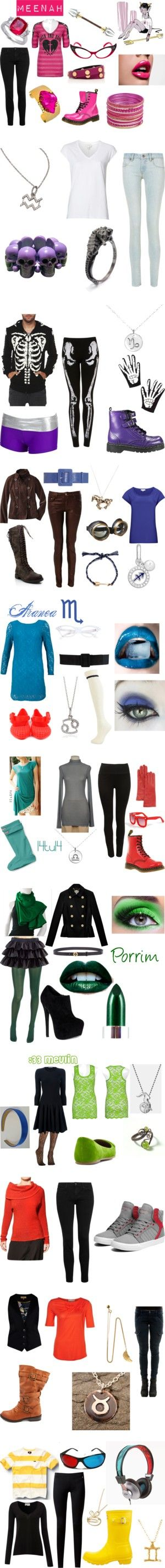 """""""Homestuck Pre-Scratch Ancestors"""" by sweetpichie ❤ liked on Polyvore"""
