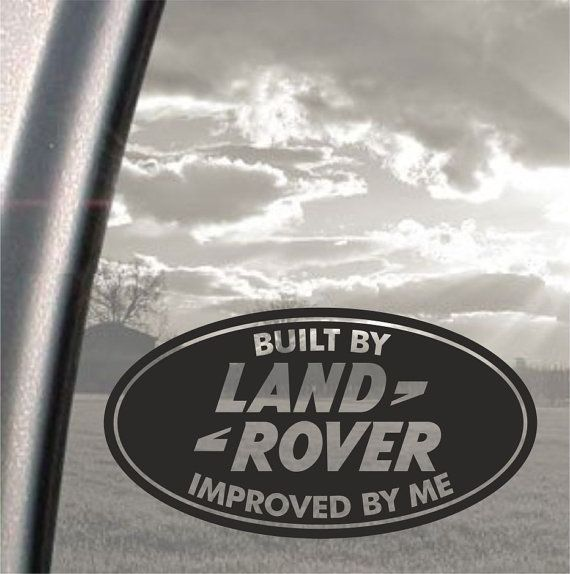 Landrover Discovery Side Stripe Decals Stickers Land Rover: Built By Land Rover Improoved By Me Funny Bumper, Car