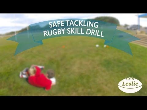 Safe Tackling Rugby Skill Drill   LeslieRugby - YouTube